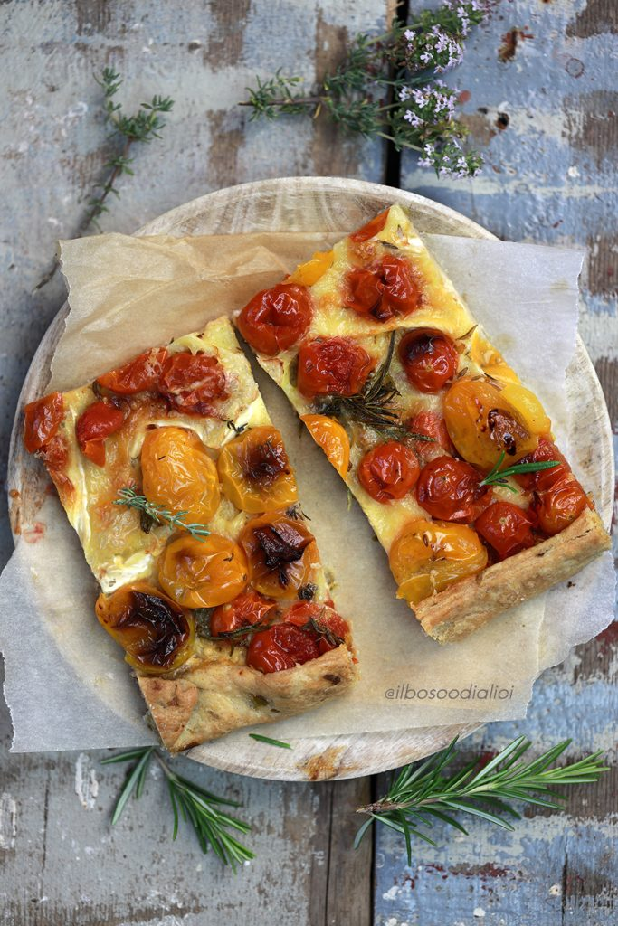 ROASTED TOMATO AND GOOEY CHEESE FREE-FORM PIE